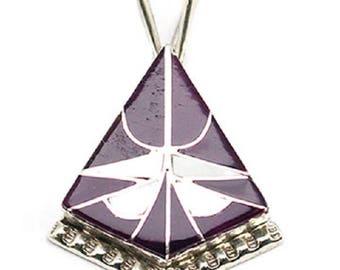 Inlay Triangle Pendant