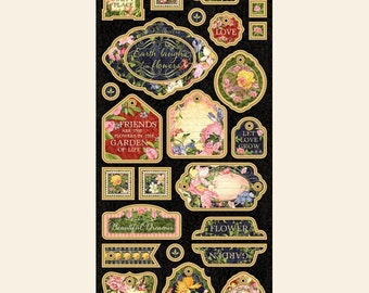 NEW!!! Graphic 45 Floral Shoppe Chipboard SC007778