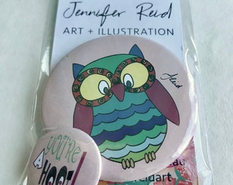 You're A Hoot Owl Button Pack