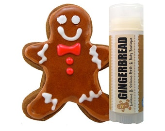 Gingerbread Lip Balm, Natural Lip Balm, Vegan, Chapstick, Lip Care, Lotions and Potions
