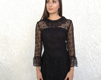 60's lace tulip sleeve dress