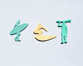 Surfer Confetti, Surfer Party, Surf Party, Surfer Birthday, Surfer Party, Surfer Decorations, Beach Party, Beach Confetti, Set of 60
