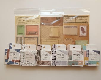 Washi Tape -Page flags- Sticky Note set
