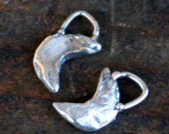 Moon Charm Sterling Silver Simple  CH19