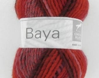 fancy warm heathered wool yarn BAYA Strawberry No. white horse 037