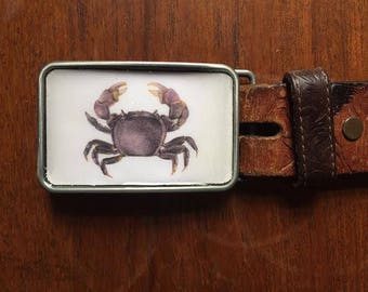Purple Crab Belt Buckle
