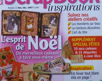 Scrapbooking magazine called Scrapbook Inspirations number 11