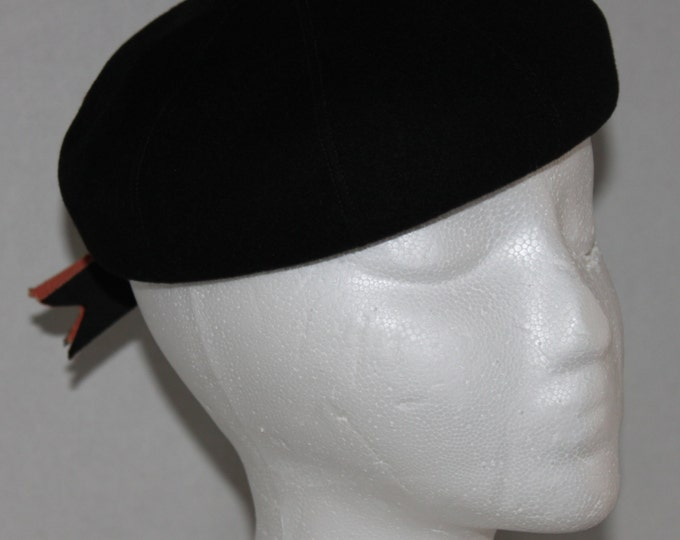 Vintage 1940-50s Ritz Henry Pollak Black Wool Hat