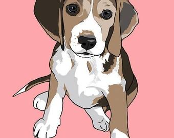 Dog Portrait, Custom Dog Portrait, Gift for Dog Owner, Gift for Dog Lover, Custom Pet Portrait, Pet Portrait, Pet Loss Gift, Printable