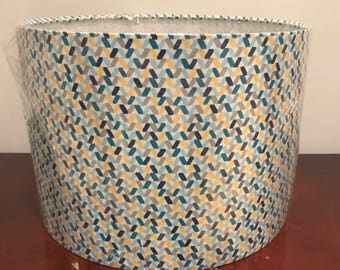 Contemporary 30cm Lamshde or Ceiling Shade , Blue, Yellow, Turqoise