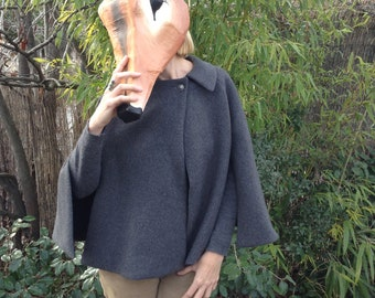 Gray wool Cape