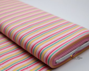Japanese Fabric | Japanese Cotton Fabric |COSMO TEXTILE | colorful Striped Cloth - Pink , Lining fabric
