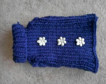 Dog Sweater / Dog Jumper / Knit Sweater with Flowers /  Pet Clothing / Pet Supplies  / Hamster Sweaters