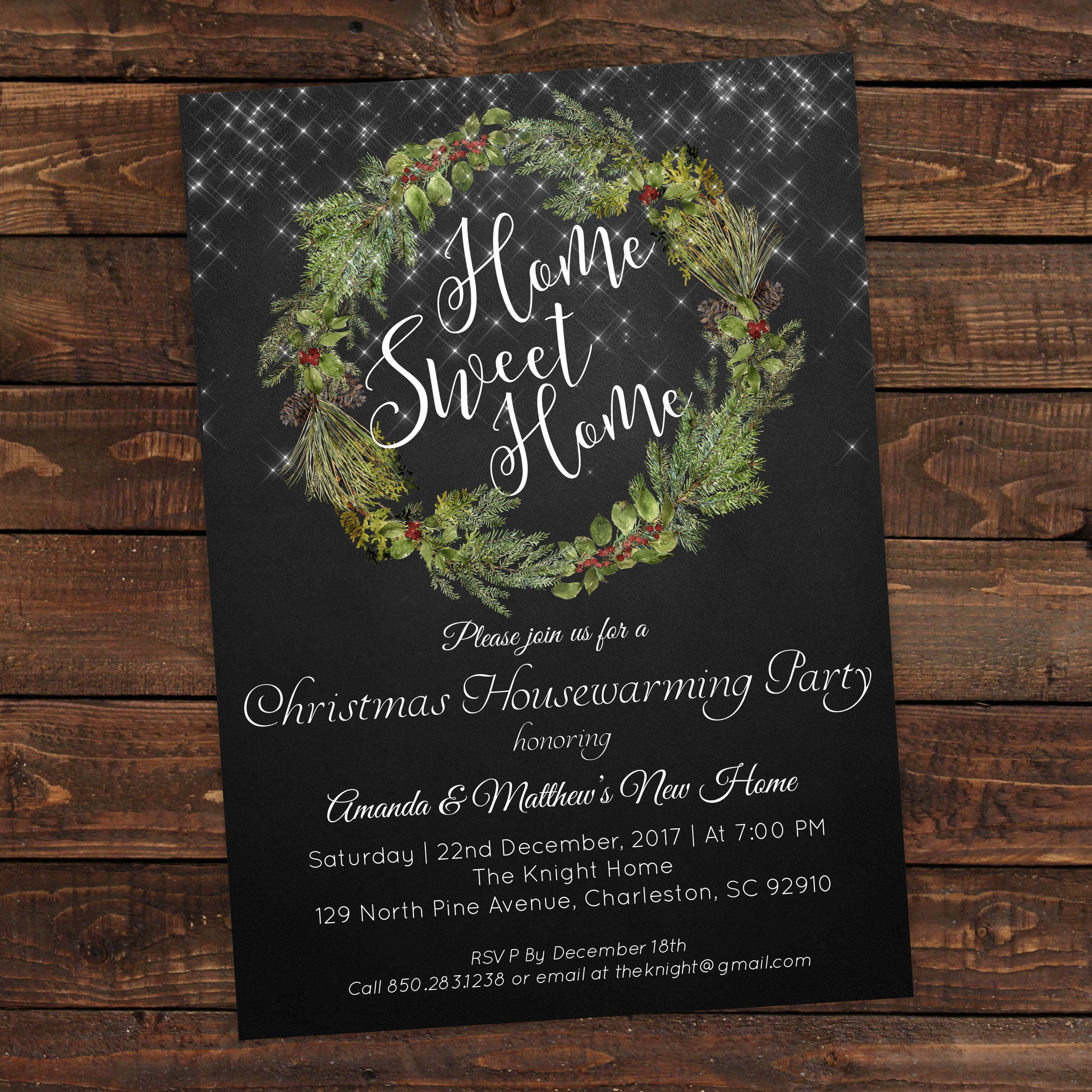 Housewarming party invitation Christmas party invitations