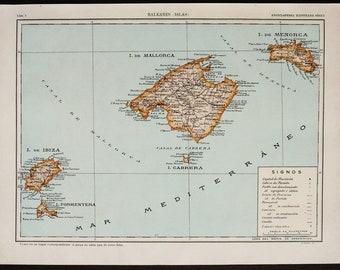 Ibiza map Etsy