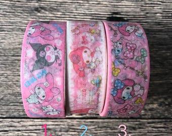 My Melody Kuromi Washi Tape - Kawaii Washi Tape - Sanrio My Melody - Sanrio - 5m