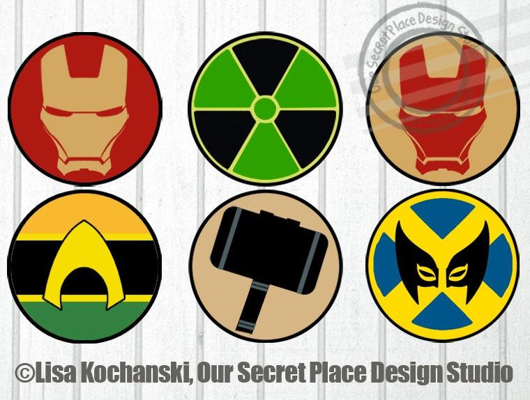 Superhero Symbols Selol Ink