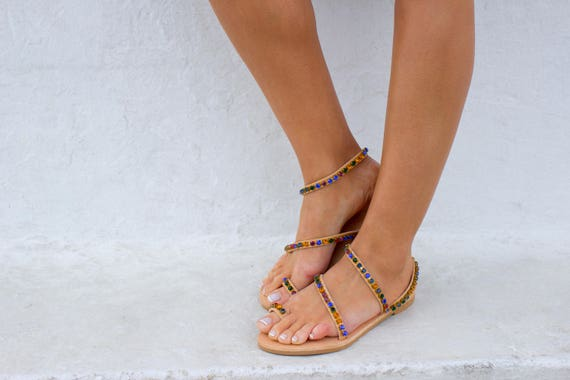 Greek Bridal Wedding Sandals Sandals ''Tijuana'' sandals Boho RiRiPoM Sparkly Luxurious Sandals Handmade Sandals Sandals sandals 877qYR