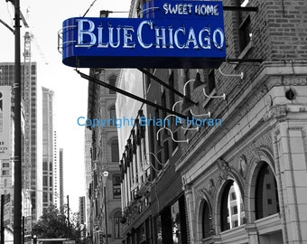 Sweet Blue Chicago 11x14