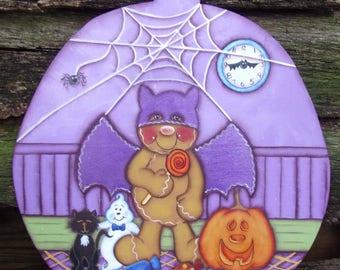 Halloween, painting pattern, e-pattern, gingerbread, bat, pumpkin, pattern packet, instant download