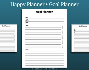 Goal Planner - Happy Planner Insert • Project planner template • Goal Organizer • MAMBI Pages  Mambi Printable Classic Happy Planner