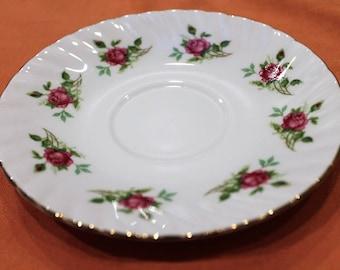 Elizabethan Fine English Bone China Saucer. Rose Pattern