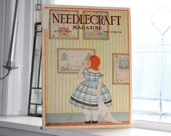 1928 Needlecraft Magazine July Issue Vintage 1920s Sewing