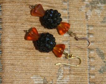 Halloween Candy Glass Bead Earrings