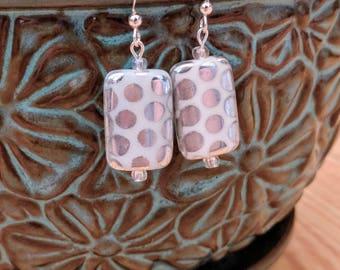 Silver Polka Dot Earrings
