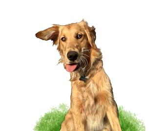 dog portrait, custom cat portrait, custom pet portrait, dog painting from photo, pet painting, dog memorial, cat memorial, pet loss gift