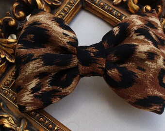Animal Print Fabric Hair Bow - Animal Print Bow - Fabric Hair Bow - Teens Bow - Girls Bow - Special Ocassion Hair Bow