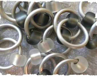"""Ringlets """"Moonshadows"""" stitch markers, ring markers, knitting markers, snag free, dangle free"""