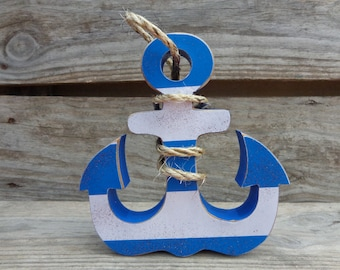 Anchor Decor - Anchor Decorations - Nautical Decor - Sailing Decor - Anchor shelf sitter
