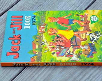 Book: Jack and Jill 1974, a Fleetway Annual, published in Great Britain
