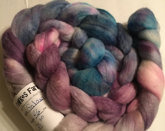 Polworth/Silk Blended Roving - Galaxy Quest