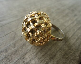 Dome Basket Weave Ring