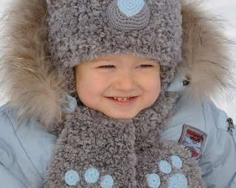 Baby Bear Hat Kids Hats kids bear costume Teddy Bear Hat Unique Knit hat Animal Hat Winter hat kids gift baby boy gift for baby hats knitted