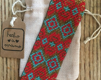 Beaded Guatemalan Bracelet - Handmade - Mayan - Colorful