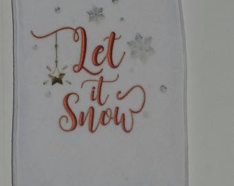 Let is Snow - Printed Fleece Scarf - Free Shipping!