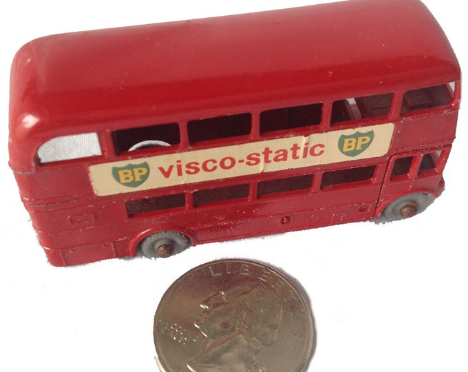 Vintage Routemaster BP visco-static Model London Bus from Leseny England 1967 Matchbox No. 5 British Petroleum