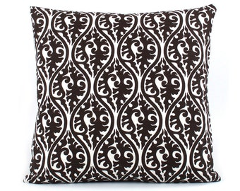 CLEARANCE Black and White Throw Pillow Cover 18x18, Black and White Cushion, Black Sofa Pillow, Geometric Pattern, Black Bed Pillow