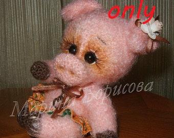 Suzie,the Piglet Crochet Pattern amigurumi PDF