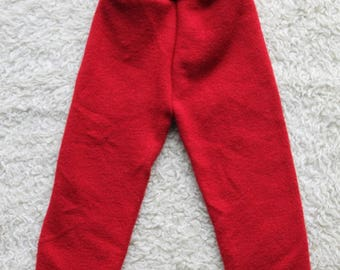 Small 100% Wool Longies in Red