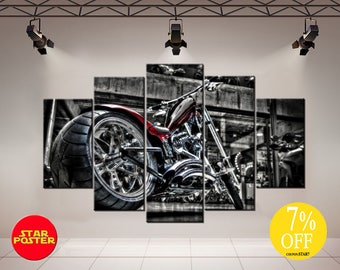 Motorcycle wall art, Motorbike wall art, Motorcycle decor, Motorbike print, Motorbike wall decor, Motorbike canvas, Large Bike Canvas