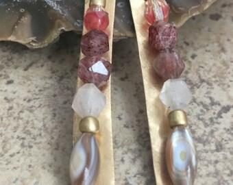 Lovely artisan gemstone dangles .