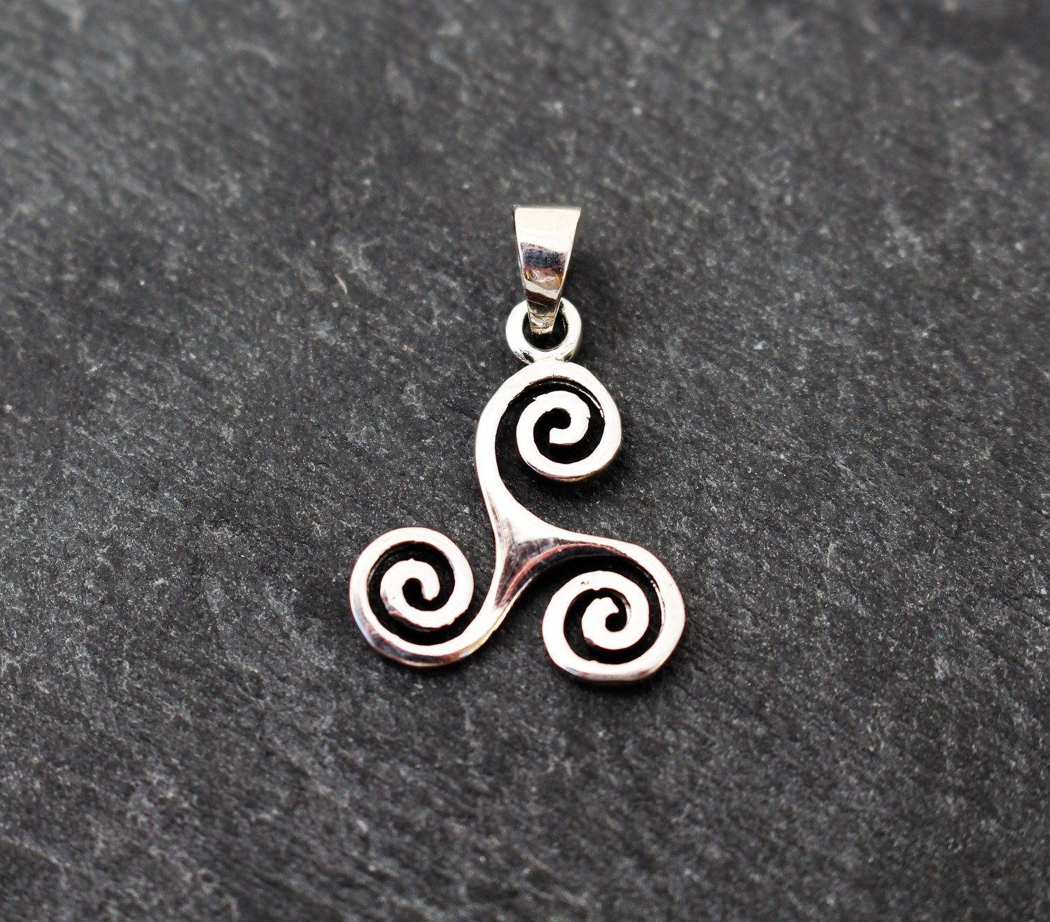 pagan triskele marble jewelry pin pendant triskelion connemara celtic irish spiral triple