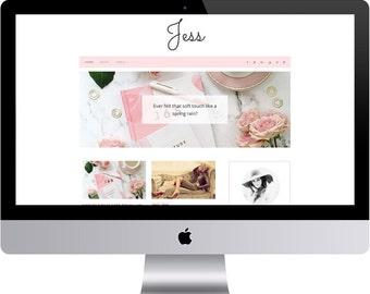 Jess - Minimal Blogger Template Responsive Design Custom Blogger Design Responsive Blogger template Blogger theme premade blogger
