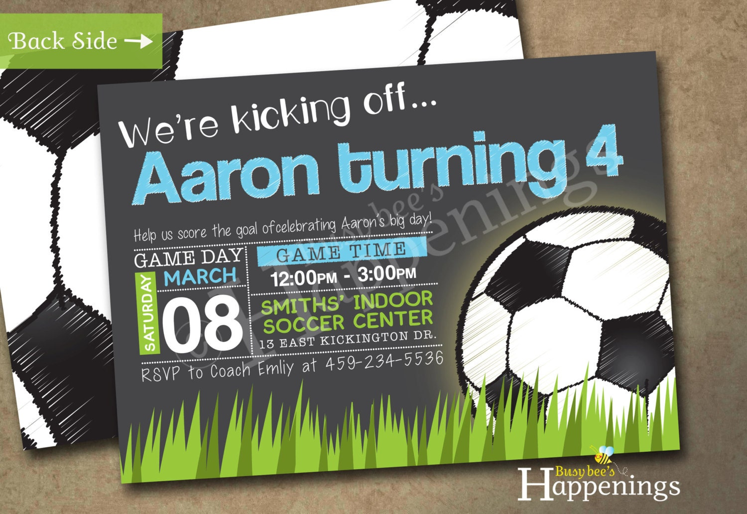 Soccer Birthday Invitation Soccer Birthday Soccer Ball