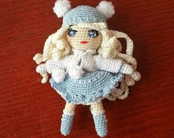 Mini Doll-lucky Hook (10 cm, dress and hair blue