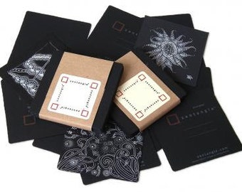 Black Zentangle Tiles - 10 Pack